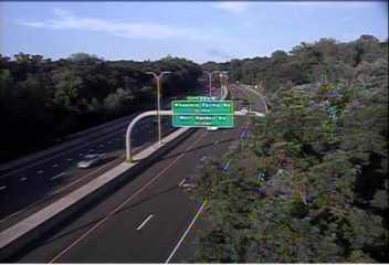 Traffic Cam CAM 97 Milford CT 15 NB Exit 54 - Milford Parkway - Northbound